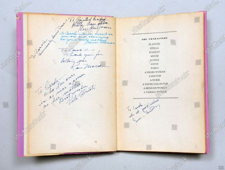 Editorial image of 'A Streetcar Named Desire' signed first edition book - 13 Jul 2020