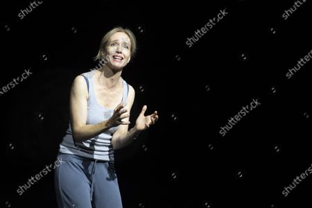 Stock Photo of Ursina Lardi performs during a rehearsal of the drama 'Everywoman' in Salzburg, Austria, 17 August 2020. Milo Rau's drama production will be staged at the Salzburg Festival, which runs from 01 to 30 August 2020.