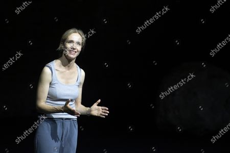 Ursina Lardi performs during a rehearsal of the drama 'Everywoman' in Salzburg, Austria, 17 August 2020. Milo Rau's drama production will be staged at the Salzburg Festival, which runs from 01 to 30 August 2020.