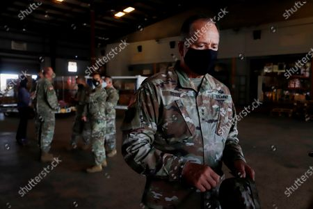 Editorial photo of Some 66 Puerto Rican soldiers leave to provide security in Honduras, Carolina, Puerto Rico - 17 Aug 2020