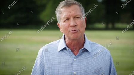 Stock Image of In this image from the Democratic National Convention video feed, former Governor John Kasich (Republican of Ohio) makes remarks on the first night of the convention.