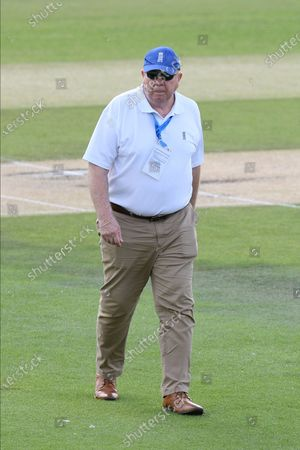 Match Referee and former Australian Test cricket match umpire Steve Davis during the Bob Willis Trophy match between Sussex County Cricket Club and Essex County Cricket Club at the 1st Central County Ground, Hove