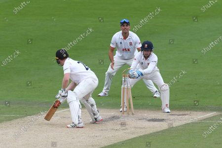 Wicket - Ben Brown of Sussex is stumped by Adam Wheater off the bowling of Simon Harmer for 5 during the Bob Willis Trophy match between Sussex County Cricket Club and Essex County Cricket Club at the 1st Central County Ground, Hove