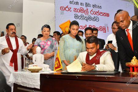 Editorial image of New Sports Minister Namal Rajapaksa assumed duties, Colombo, Western, Sri Lanka - 18 Aug 2020