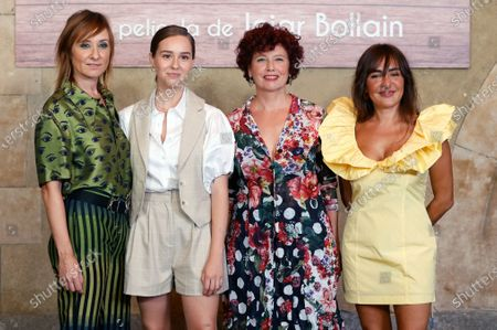 Iciar Bollain (2-R), and cast members (from left) Nathalie Poza, Paula Usero and Candela Pena pose for the photographers during the presentation of their film 'Rosa's Wedding' in Madrid, Spain, 18 August 2020. The film opens in Spanish cinemas on 21 August 2020.