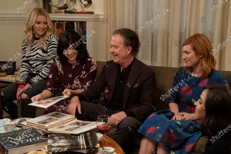 Stock Photo of Emily Osment as Roxy Doyle, Tedra Millan as Rivka Goldberg, Timothy Hutton as Leon Bechley, Brittany Snow as Julia Bechley and Megalyn Echikunwoke as Edie Palmer