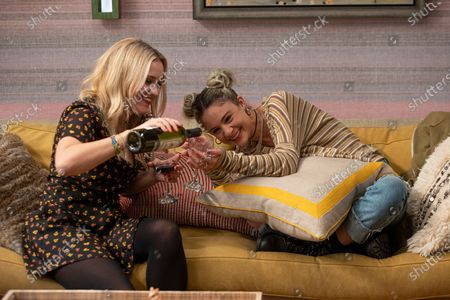 Stock Photo of Emily Osment as Roxy Doyle and Lizzy DeClement as Hannah Bloom