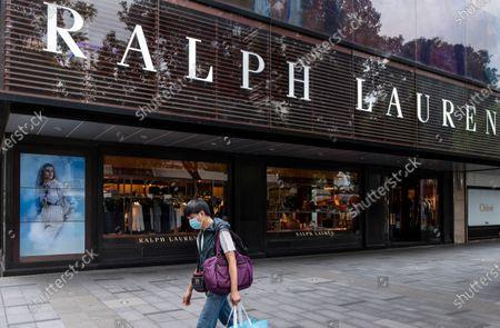 American fashion brand Ralph Lauren store and logo seen in Hong Kong.