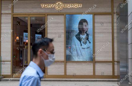 American fashion brand Tory Burch store seen in Hong Kong.
