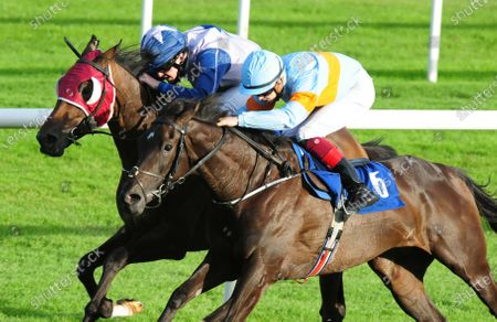 ROSCOMMON MILLFORD SOUND and Luke McAteer (far) beats Grace To Grace (near) to win the Sean Cleary Memorial Handicap. Healy Racing