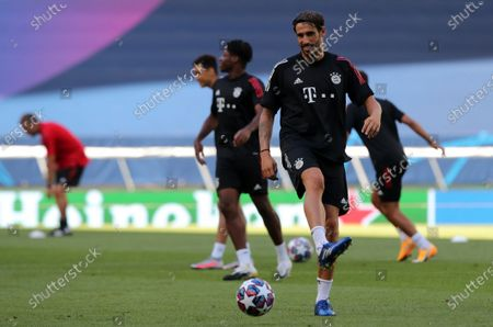Javier Martinez of Bayern during the training session of Bayern Munich in Lisbon, Portugal, 18 August 2020. Bayern Munich will face Olympique Lyon in the UEFA Champions League semi finals on 19 August.