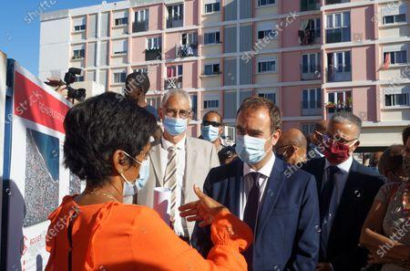 Editorial picture of Minister of Overseas France Sebastien Lecornu meets residents of social housing, Saint-Denis, La Reunion, France - 18 Aug 2020