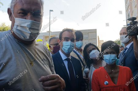 Editorial image of Minister of Overseas France Sebastien Lecornu meets residents of social housing, Saint-Denis, La Reunion, France - 18 Aug 2020