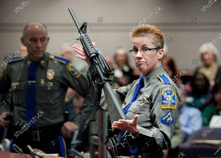 Editorial image of Remington Bankruptcy Sandy Hook, Hartford, United States - 15 Oct 2016