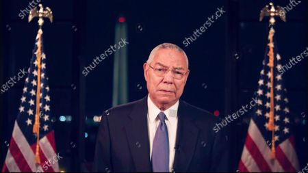 Stock Image of In this image from the Democratic National Convention video feed, former United States Secretary of State Colin Powell makes remarks on the second night of the convention.
