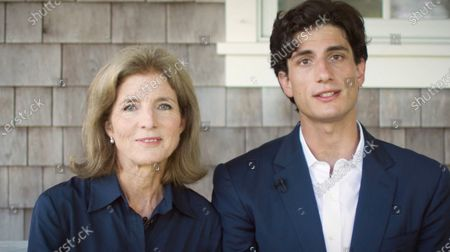 A framegrab from the Democratic National Convention Committee livestream showing Caroline Kennedy Schlossberg and her son John Schlossberg speaking during the second night of the 2020 Democratic National Convention in Milwaukee, Wisconsin, USA, 18 August 2020. The convention, which was expected to draw 50,000 people to the city, is now taking place virtually due to coronavirus pandemic concerns.