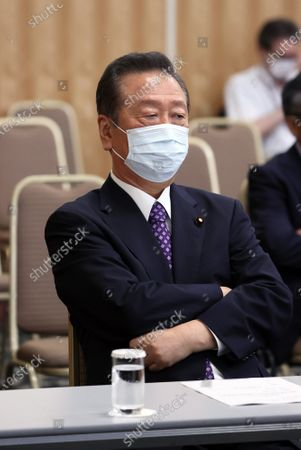 Stock Photo of Japan's opposition Democratic Party for the People lawmaker Ichiro Ozawa attends the party's lawmakers meeting in Tokyo on Wednesday, August 19, 2020. Democratic Party for the People and another opposition Constitutional Democratic Party of Japan have talks to merge their parties.