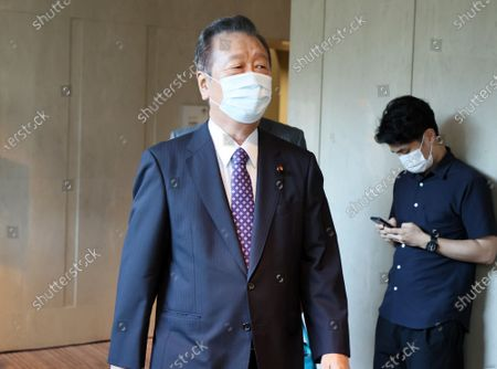 Japan's opposition Democratic Party for the People lawmaker Ichiro Ozawa arrives at the party's lawmakers meeting in Tokyo on Wednesday, August 19, 2020. Democratic Party for the People and another opposition Constitutional Democratic Party of Japan have talks to merge their parties.