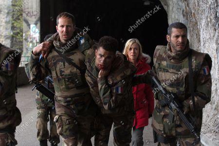 Stock Photo of Lea Drucker and Adel Bencherif as Colonel Mustafa Mokrani