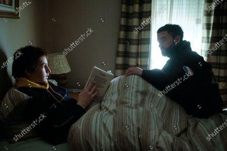 Stock Image of Mathieu Torloting as Sacha Dumont and Guillaume Gouix as Noah Dumont