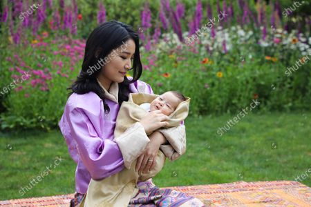 Bhutan Royal Family of Bhutan: Her Majesty Queen Jetsun Pema Wangchuck and His Royal Highness the Gyalsey (born 19 March 2020)