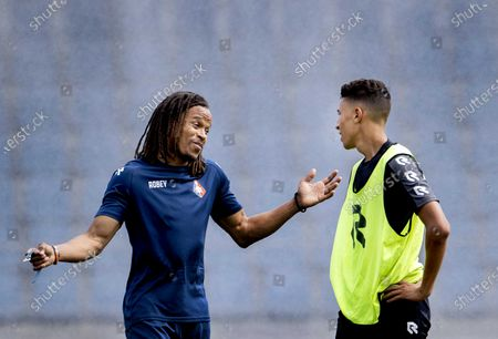 Dutch Edgar Davids (L) during the training of Telstar in Velsen, 19 August 2020. He will work as assistant to head coach Andries Jonker.