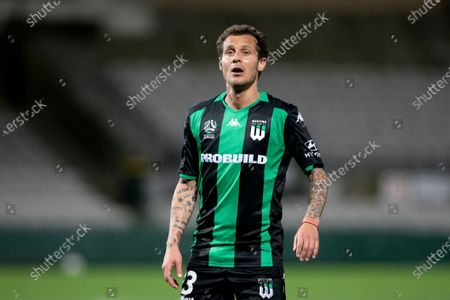 Western United midfielder Alessandro Diamanti (23) looks on