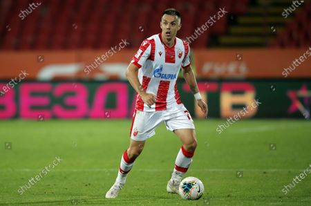 Milan Rodic during UEFA Champions League first qualifying round football match between Crvena Zvezda and Europa FC in Belgrade, Serbia on Aug. 18, 2020.