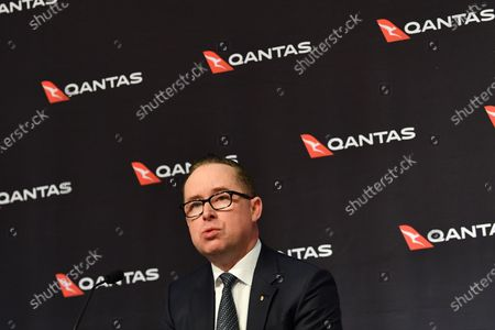 Qantas Group Chief Executive Officer Alan Joyce speaks during the company's results announcement press conference in Sydney, Australia, 20 August 2020. Qantas CEO Alan Joyce has said the company's has taken a 2.87 billion US dollar (4 billion Australian dollar) revenue loss due to the coronavirus pandemic.