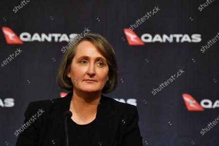 Qantas Group Chief Financial Officer Vanessa Hudson during the company's results announcement press conference in Sydney, Australia, 20 August 2020. Qantas CEO Alan Joyce has said the company's has taken a 2.87 billion US dollar (4 billion Australian dollar) revenue loss due to the coronavirus pandemic.