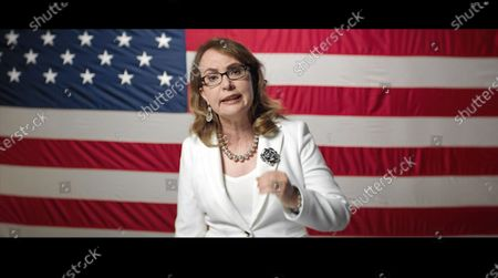 Stock Picture of In this image from the Democratic National Convention video feed, former United States Representative Gabrielle Giffords (Democrat of Arizona) makes remarks on the first night of the convention.
