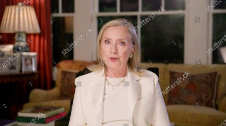 A framegrab from the Democratic National Convention Committee livestream showing Hillary Clinton speaking during the third night of the 2020 Democratic National Convention (DNC) in Milwaukee, Wisconsin, USA, 19 August 2020. The convention, which was expected to draw 50,000 people to the city, is now taking place virtually due to coronavirus pandemic concerns.