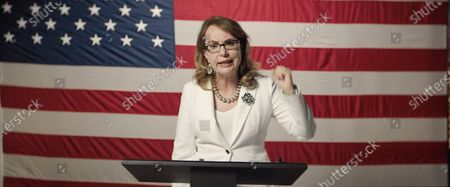 Stock Picture of A framegrab from the Democratic National Convention Committee livestream showing Rep. Gabrielle Giffords speaking during the third night of the 2020 Democratic National Convention (DNC) in Milwaukee, Wisconsin, USA, 19 August 2020. The convention, which was expected to draw 50,000 people to the city, is now taking place virtually due to coronavirus pandemic concerns.