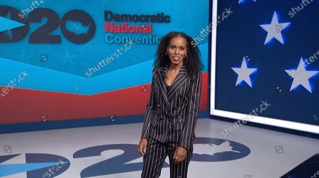 A framegrab from the Democratic National Convention Committee livestream showing US actor Kerry Washington speaking during the third night of the 2020 Democratic National Convention (DNC) in Milwaukee, Wisconsin, USA, 19 August 2020. The convention, which was expected to draw 50,000 people to the city, is now taking place virtually due to coronavirus pandemic concerns.