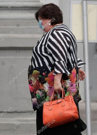 Belgium's Minister of Health and Social Affairs Maggie De Block arrives at a National Security Council on the COVID-19 situation in Brussels, Belgium, 20 August 2020. The National Security Council gathered to take new measures for Belgium's population to fight the coronavirus pandemic.