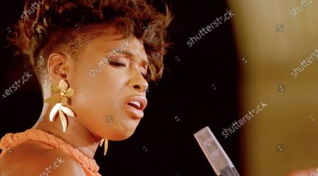 A framegrab from the Democratic National Convention Committee livestream showing former US singer Jennifer Hudson performing during the third night of the 2020 Democratic National Convention (DNC). The convention, which was expected to draw 50,000 people to the city, is now taking place virtually due to coronavirus pandemic concerns.