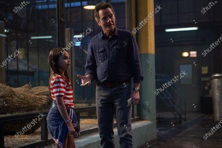 Ariana Greenblatt as Julia and Bryan Cranston as Mack