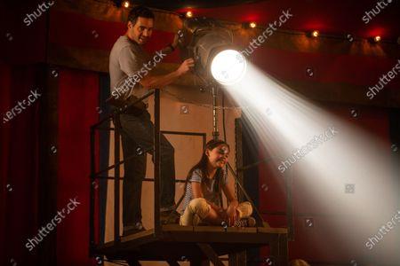 Stock Photo of Ramon Rodriguez as George and Ariana Greenblatt as Julia