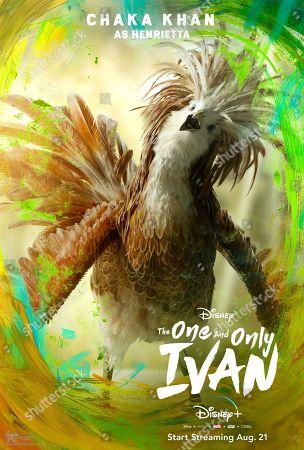 The One and Only Ivan (2020) Poster Art. Henrietta (Chaka Khan)