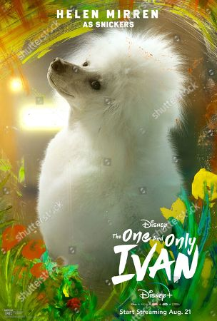 The One and Only Ivan (2020) Poster Art. Snickers (Helen Mirren)