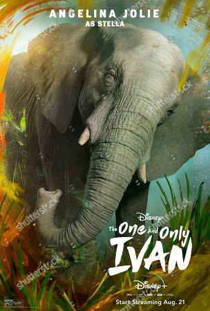 The One and Only Ivan (2020) Poster Art. Stella (Angelina Jolie)