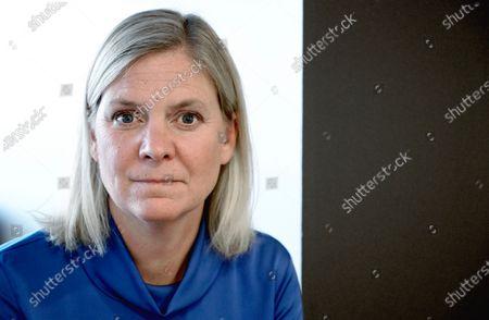 Portrait of Magdalena Andersson, Sweden's Minister for Finance, in Stockholm, Sweden