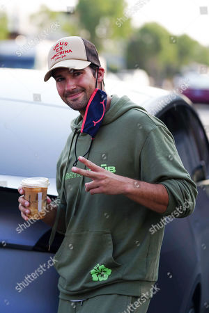 Stock Picture of James Maslow takes a coffee break