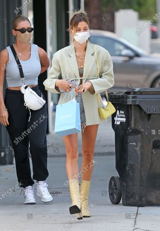 Stock Photo of Hailey Bieber is seen after shopping at Anita Ko in West Hollywood