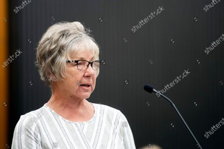 Stock Picture of Karen Smith, the aunt of Katie Maggiore, makes a statement as Joseph James DeAngelo in the court room during the third day of victim impact statements at the Gordon D. Schaber Sacramento County Courthouse, in Sacramento, California, USA, 20 August 2020. DeAngelo admitted to more than 50 rapes, including some in Santa Clara, Contra Costa and Alameda counties, but the statute of limitations expired on those crimes. DeAngelo, who admitted being the infamous Golden State Killer, listened in to the final statements of his victims and their families, before his sentencing on Friday. Pedretti was 15 years old when DeAngelo broke into her Carmichael home and raped her.