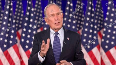 In this image from the Democratic National Convention video feed, former Mayor Michael Bloomberg (Democrat of New York) makes remarks on the last night of the convention.