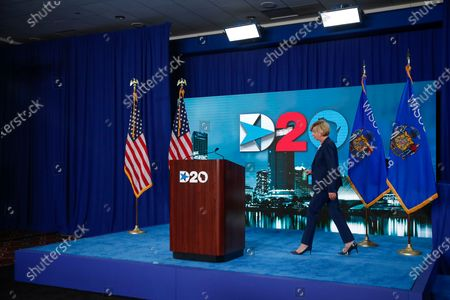 US Senator Tammy Baldwin, D-Wisconsin, arrives to speak during day four of the virtual Democratic National Convention in Milwaukee, Wisconsin, USA, 20 August 2020. Thursday marked the last day of the Democratic National Convention, which is being held virtually for the first time in history.