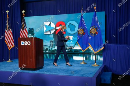 US Senator Tammy Baldwin, D-Wisconsin, leaves after speaking during day four of the virtual Democratic National Convention in Milwaukee, Wisconsin, USA, 20 August 2020. Thursday marked the last day of the Democratic National Convention, which is being held virtually for the first time in history.