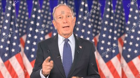 In this image from video, former New York City Mayor Michael Bloomberg speaks during the fourth night of the Democratic National Convention on