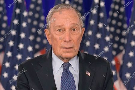 In this image from video, a fly lands on former New York City Mayor Michael Bloomberg's face as he speaks during the fourth night of the Democratic National Convention on